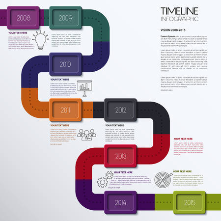 Vector timeline infographic. Modern simple design. Vector