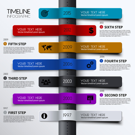 time square: Vector timeline infographic. Modern simple design.