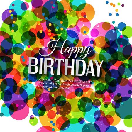 Verjaardagskaart in felle kleuren. Stock Illustratie