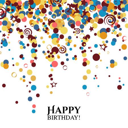 폴카 도트 및 텍스트 원하는 생일 카드입니다.