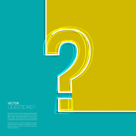 punto di domanda: Domanda icona del marchio design piatto.