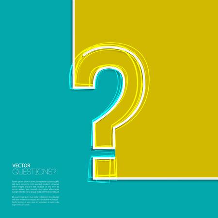 signo de interrogacion: Icono de signo de interrogación en el diseño plano.