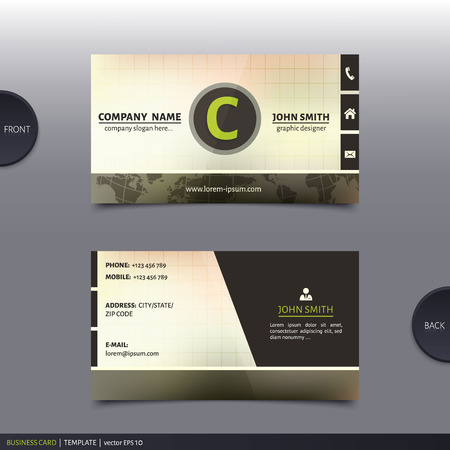 calling art: Business card template, modern abstract design. Vector.
