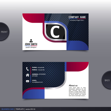 visiting card design: Business card template, modern abstract design. Vector.