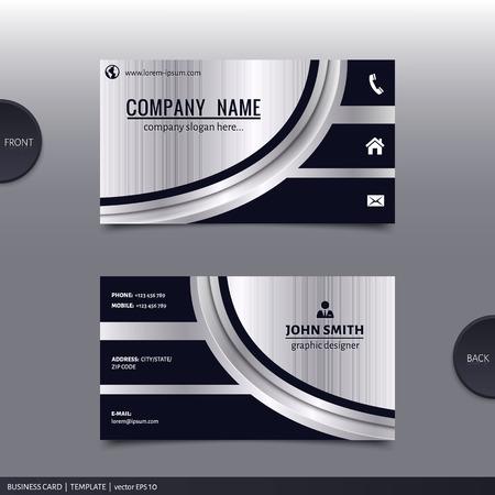 비즈니스 카드 템플릿, 현대 추상 디자인. 벡터.