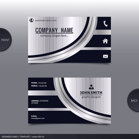 business: Business card template, moderno disegno astratto. Vector.