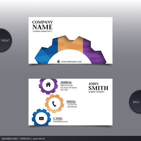 visiting card: Vector abstract creative business card design template.