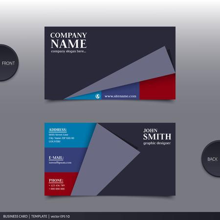 Vector abstract creatieve visitekaartjes ontwerp sjabloon.
