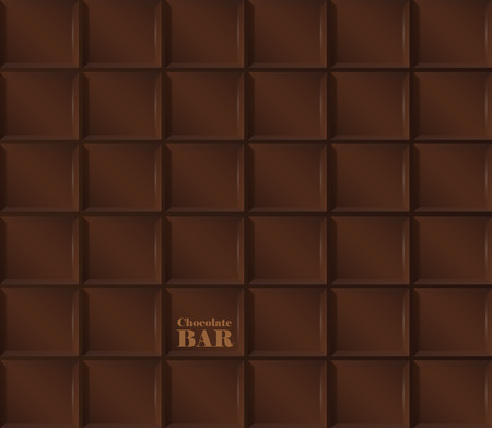barra de chocolate: Vector de fondo realista de la barra de chocolate oscuro. Vectores