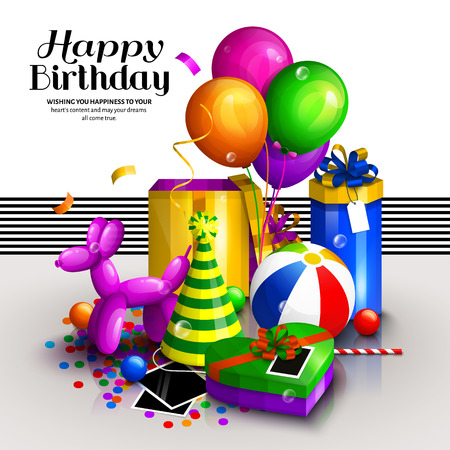 Amato Buon Compleanno Biglietto Di Auguri. Scatole Regalo Avvolte  MX17