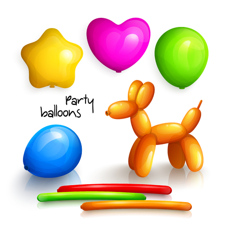 inflatable ball: Set of party balloons for miscellaneous occasions. Vector.