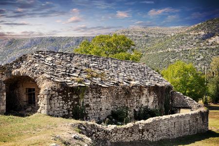 fragment of the Old Monastery Zhytomislik, Mostar, Bosnia and Herzegovina.