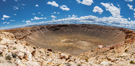 Meteor Crater panoramic view, in Winslow, Arizona, USA Reklamní fotografie