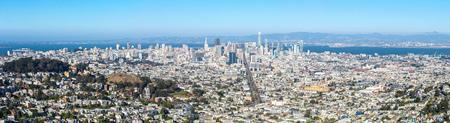 San Francisco skyline from Twin Peaks, panorama view, California, USA