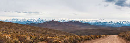 Sierra Nevada Mountains panorama view, California, USA Stockfoto