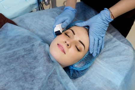 Mesotherapy face by mezoroller.