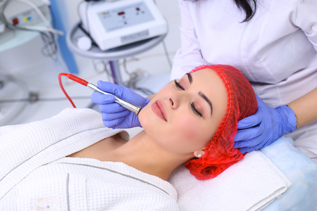 Procedure of Microdermabrasion.