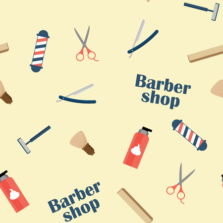 barbershop: Barbershop commodities on the light background