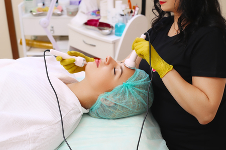 Ultrasound cavitation procedure.