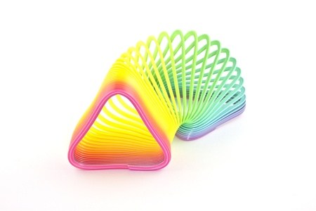 Triangleshaped toy on a white background photo
