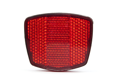 reflector: Red reflector  Stock Photo