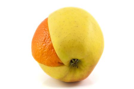 Superfruit - apple and orange combination Stock Photo - 25912087