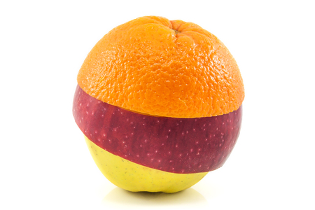 superfruit: Superfruit - yellow and red apple and orange