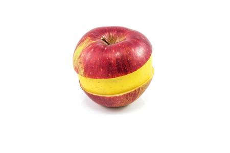 pomme jaune: Superfruit - pomme rouge et jaune