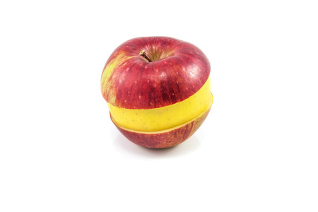 cohesive: Superfruit - red and yellow apple Stock Photo