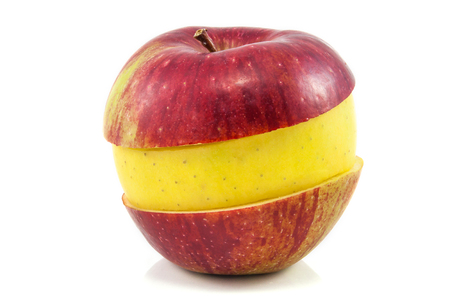 Superfruit - red and yellow apple photo