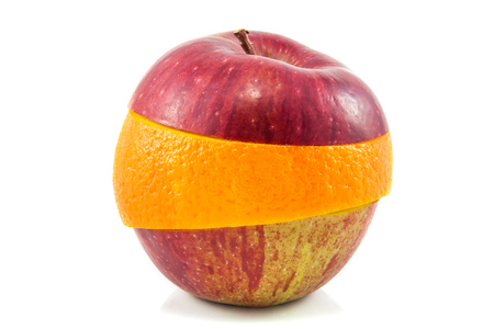 apple gmo: Superfruit - red apple and orange