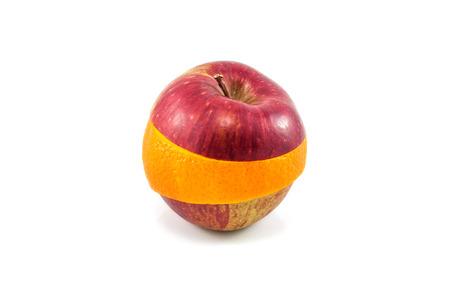 superfruit: Superfruit - red apple and orange