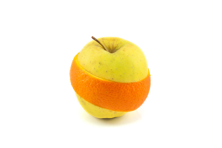 Superfruit - apple and orange combination photo