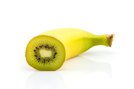 Super fruit  Banana and kiwi combination photo
