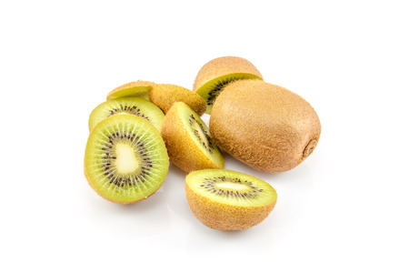 Kiwi sliced in pieces photo
