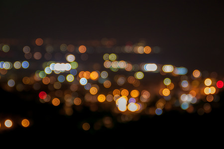 city light: Defocused city light