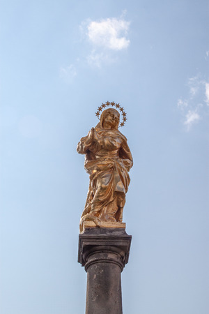 The Marian Column in Ricaniy town photo
