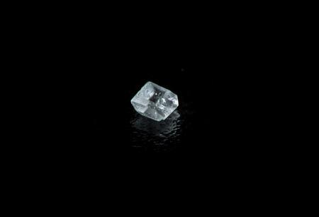extreme macro: Extreme macro photography of sugar crystal on a black background Stock Photo