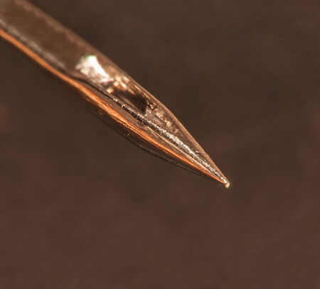 needle tip: Extreme macro of a needle tip