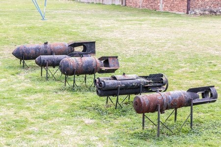 bombs: Old style Aircraft bombs