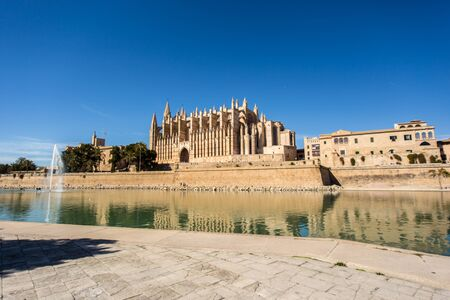 palma: The big cathedral of Santa Maria in Palma de Mallorca