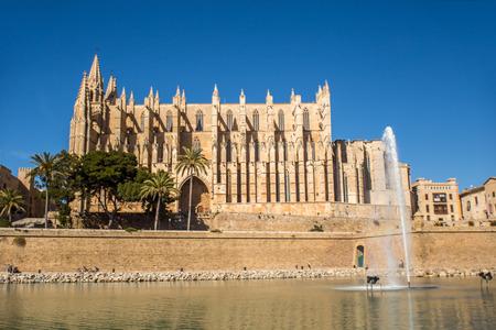 santa maria: The big cathedral of Santa Maria in Palma de Mallorca