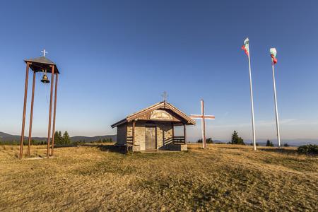 The chapel Saint Transfiguration of Jesus located ot the top of the Haiduski poliani area.