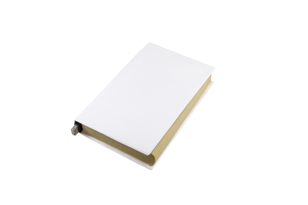 ibook: Book with blank cover and female USB connector isolated on white background.
