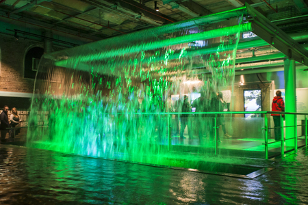 DUBLIN, IRELAND - MARCH 17, 2017 - Guinness storehouse brewery in Dublin, Ireland. Showcasing different stages of making the Guinness beer. Editorial