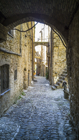 Streets of the Bussana Vecchia -  former ghost town, because of an earthquake in Italy.