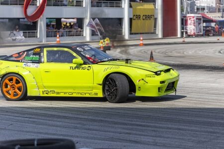 PLOVDIV, BULGARIA - JUNE 08, 2019 - Diesel drift car racing and time attack competition in Plovdiv city in Bulgaria