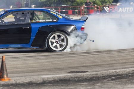 PLOVDIV, BULGARIA - JUNE 08, 2019 - Drift car racing and time attack competition in Plovdiv city in Bulgaria