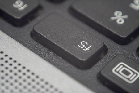 Extreme macro of the f5 key on a laptop keyboard Reklamní fotografie