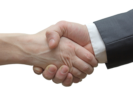 firm handshake after the completion of the transaction photo